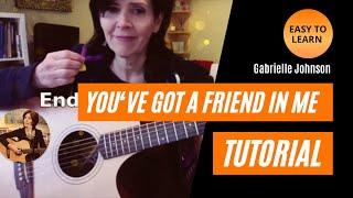 """""""You've Got a Friend in Me""""  Guitar Tutorial - Key of G"""