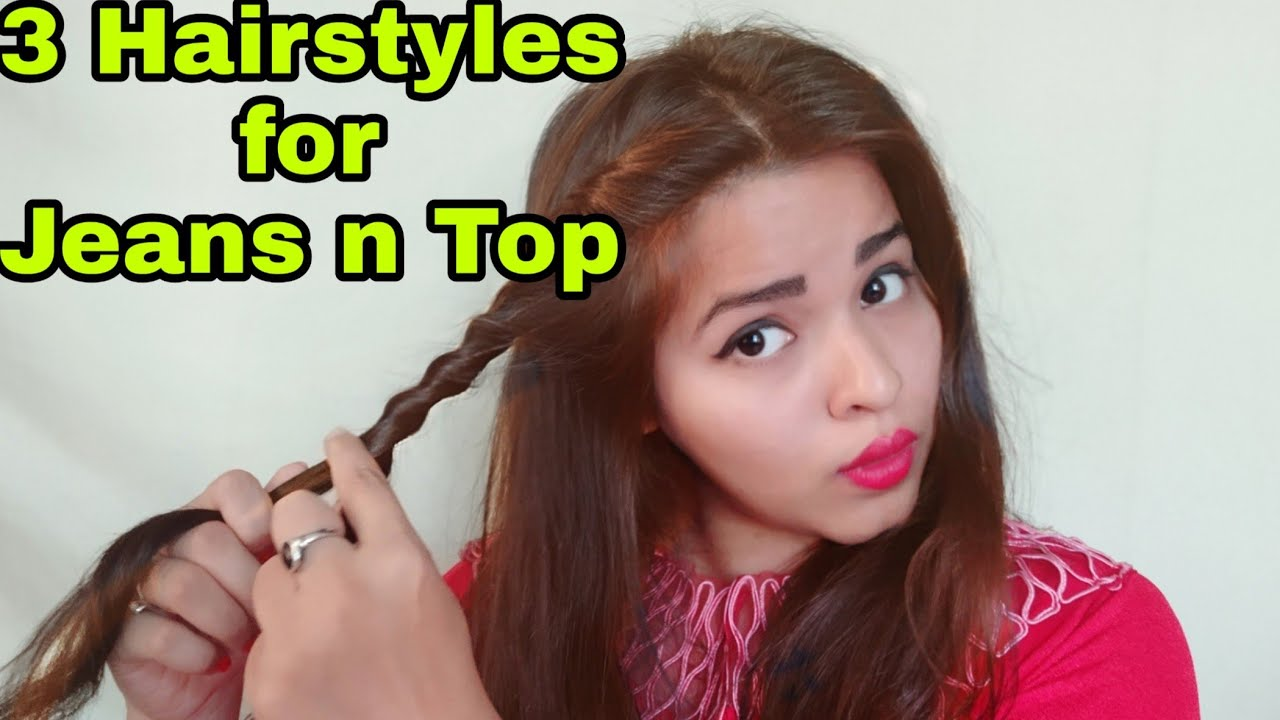 10 Cute and Easy Hairstyles for Jeans and Top (Hindi)  Awsome Hairstyles  for girls  💁