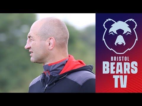 Steve Borthwick Visits Training Ground