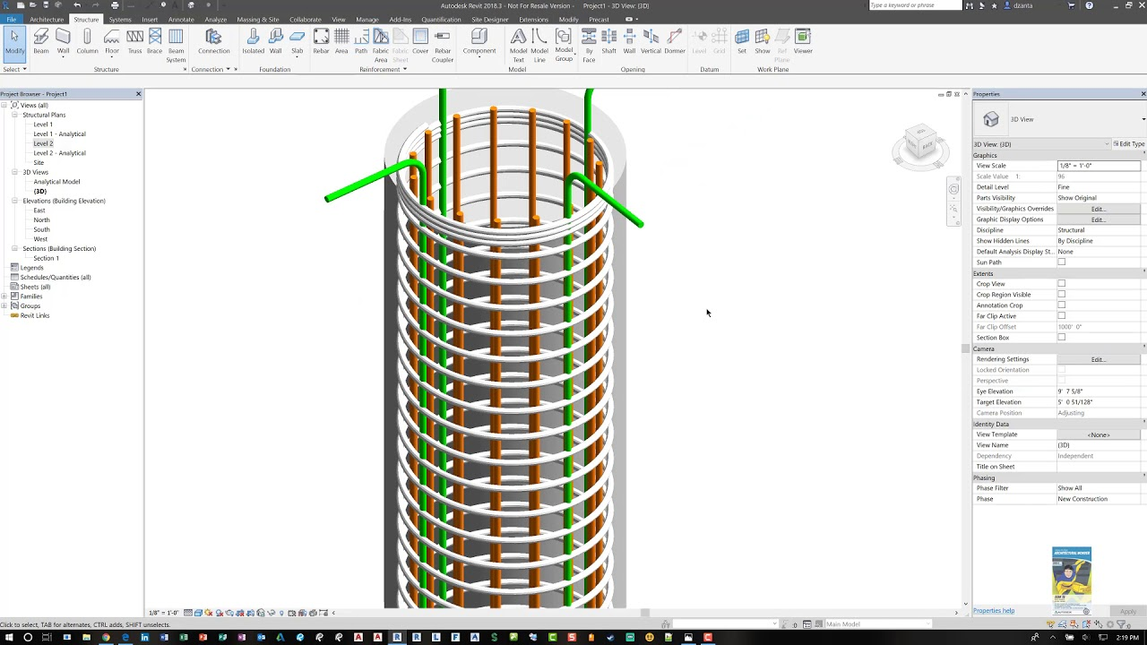 Revit Round Column Rebar Creation - A How to Guide