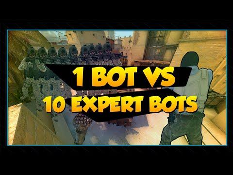 1 Player VS 10 EXPERT Bots In CSGO