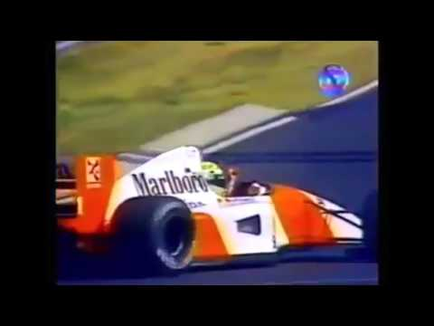 1992 Hungarian Grand Prix - Senna Wins and Mansell World Champion | Brazilian Commentary