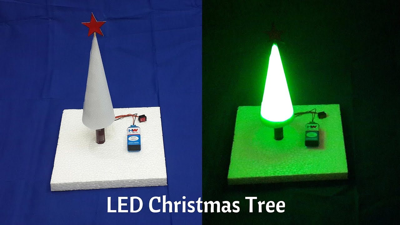 How To Make A Simple LED Christmas Tree At Home