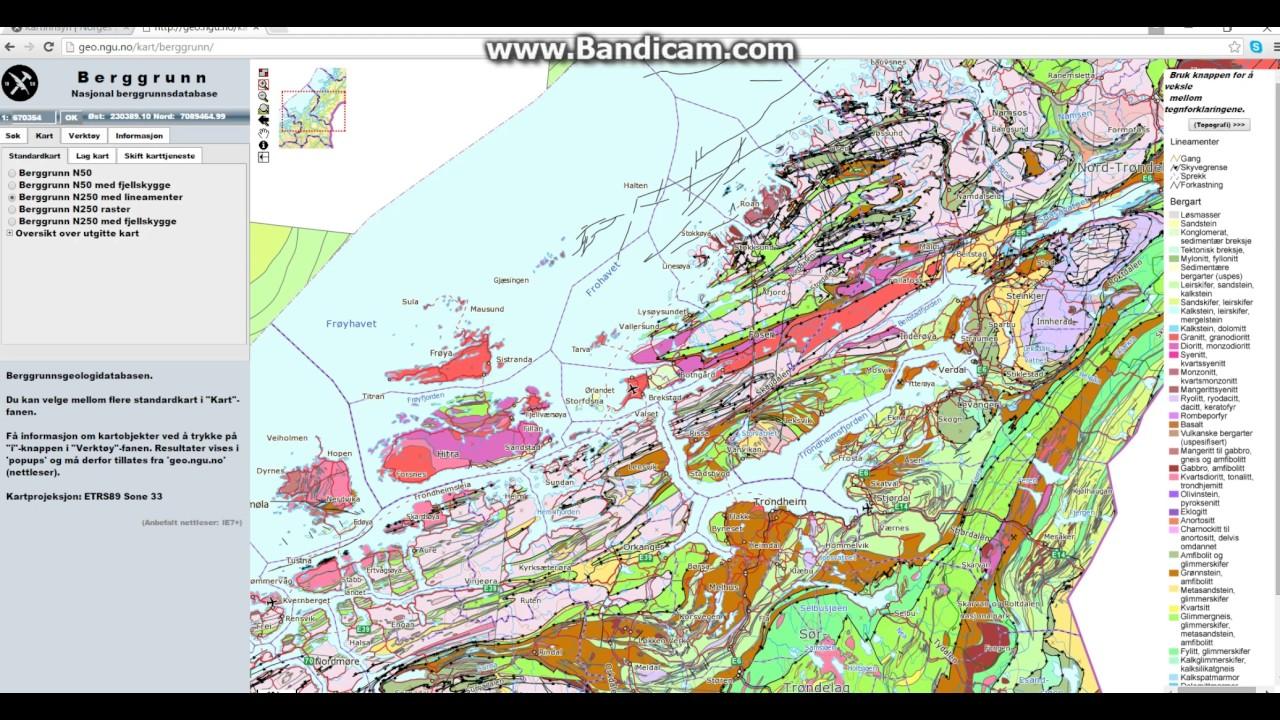 ngu kart hvordan bruke kart tjenesten NGU (berggrunn)   YouTube