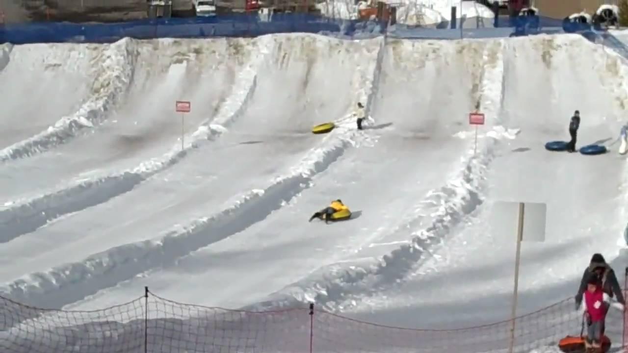 playland tubing @ boreal mountain resort - youtube