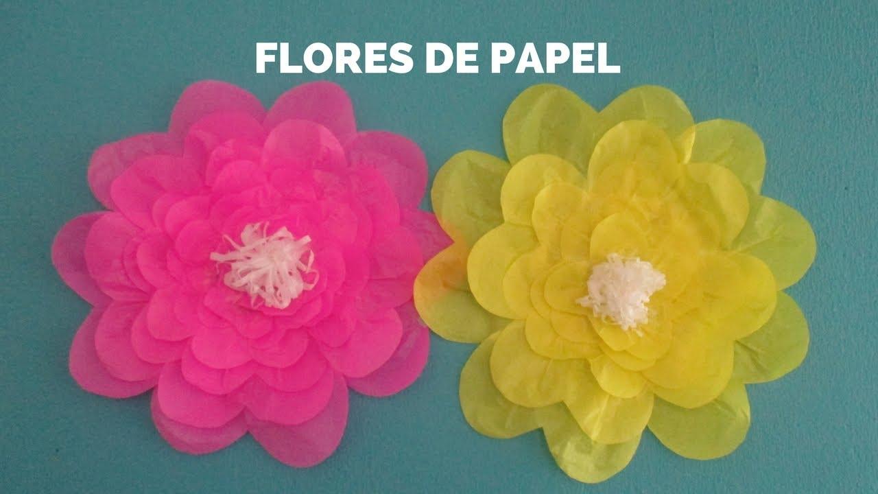 Flores De Papel Seda Youtube