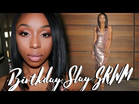 GRWM: 24th Birthday Dinner! Hair + Outfit | ft. UNice