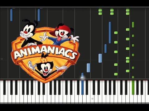 Animaniacs - Theme song Synthesia Tutorial
