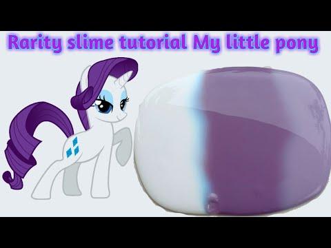 Cara Membuat Rarity Slime Tutorial My Little Pony