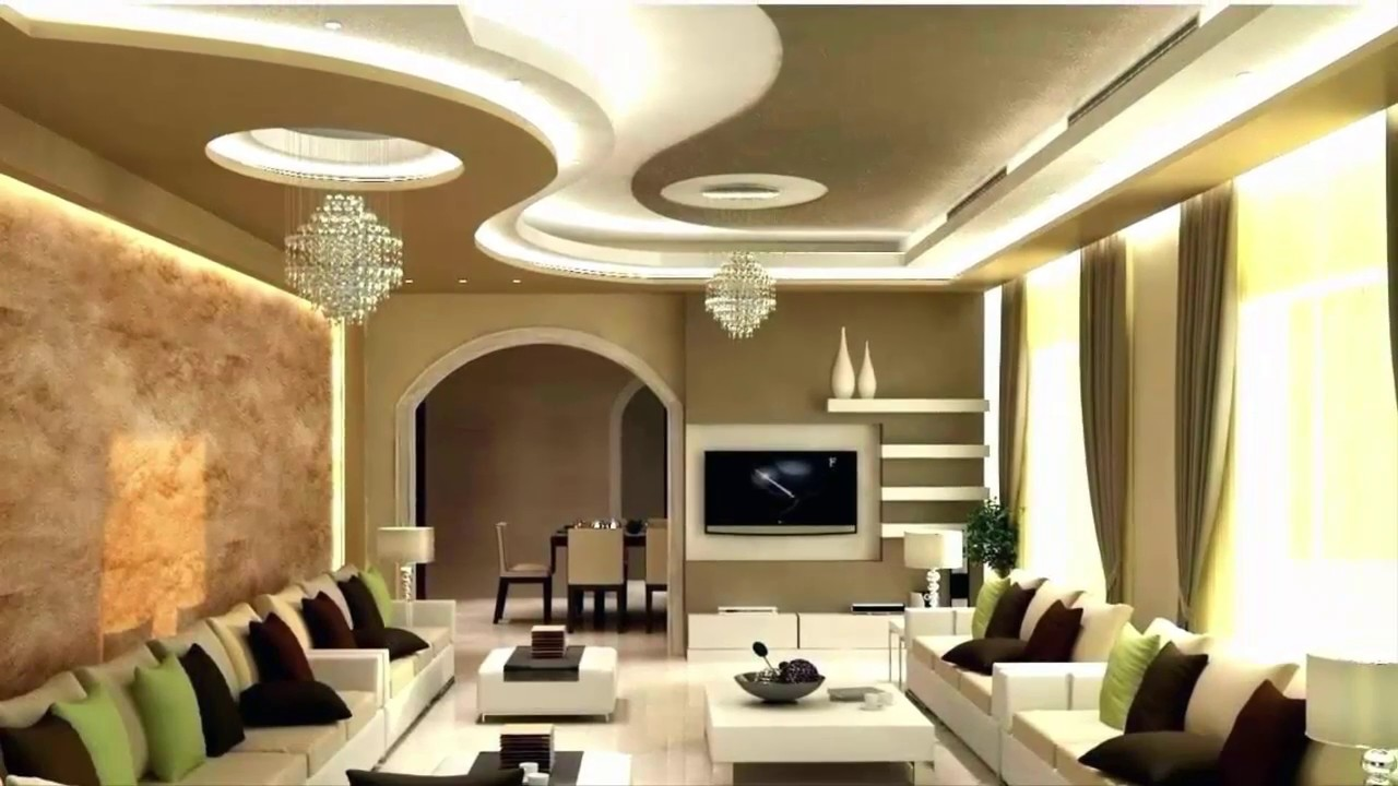 Top 100 Ceiling designs for living room 2019 ! Gypsum ...