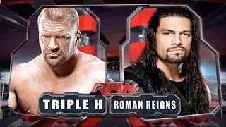 Roman Reigns VS Triple H - WWE Angry Fights - Best WWE 2016
