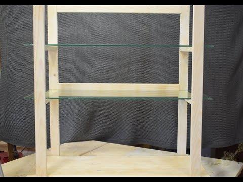 Крутая Полка дерево-стекло.  Своими руками.  DIY shelf.