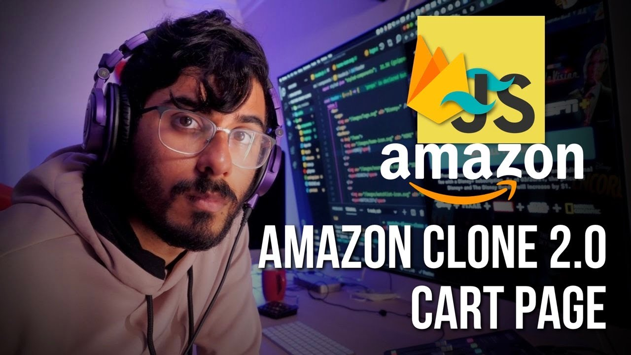 Build Amazon Cart Page using HTML, Tailwind CSS, Firebase and ES6 JavaScript