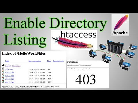 Web Server: Enable Directory Listing / Directory Browsing with.htaccess & create files with no name