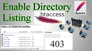 Web Server: Enable Directory Listing / Directory Browsing with .htaccess & create files with no name