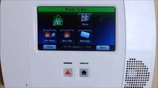 How to Arm and Disarm your Honeywell L5200 & L5210 Lynx Touch Security Alarm