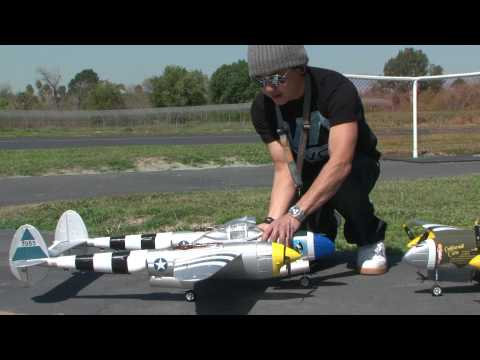 P-38 Lightning RC Warbird! Flight Review in HD! Banana Hobby!