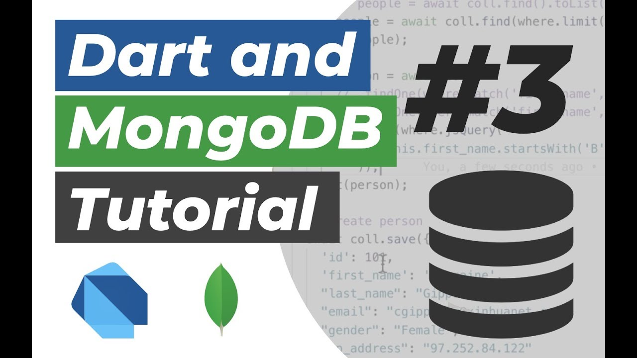 Dart and MongoDB Tutorial #3: Refactor our RESTful API into