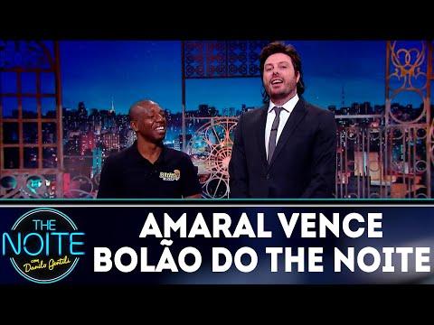 Monólogo: Amaral vence bolão do programa e recebe prêmio do Pelé | The Noite (18/07/18)