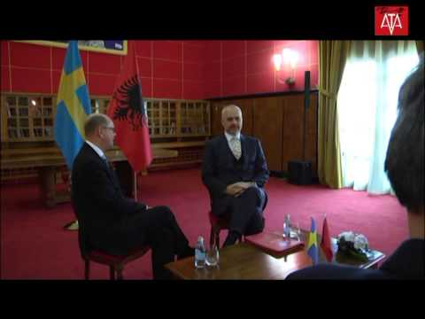Kryeministri Z.Edi Rama pret Kryetarin e Parlamentit të Suedisë Z.Urban Ahlin