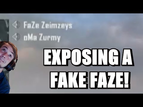I EXPOSED A FAKE FAZE MEMBER IN MY GAME!