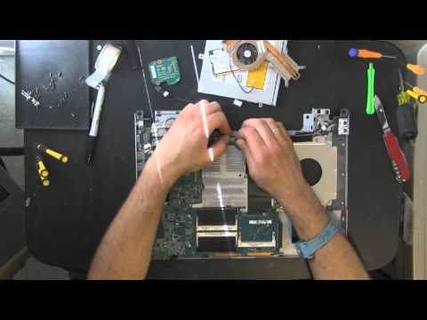 SONY VGN FS FS920 FS940 take apart video, disassemble, how to open disassembly