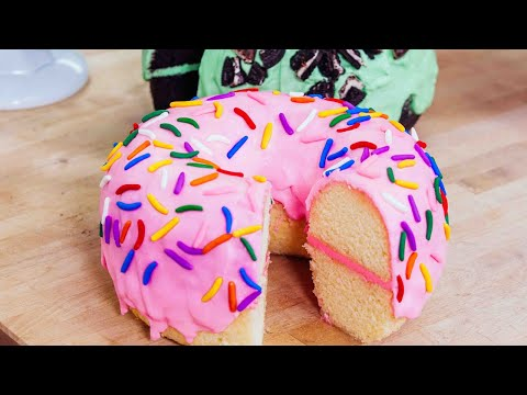 GIANT Donuts With A Twist! | HUGE Desserts | How To Cake It Step By Step