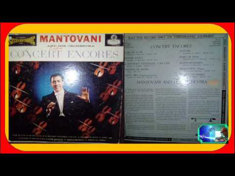 Mantovani And His Orchestra 1974 LP Concert Encores