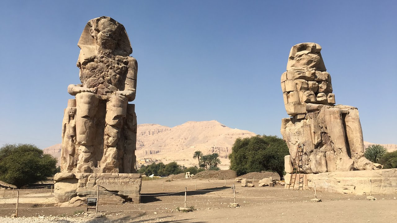 Amazing engineering at Colossi of Memnon, Luxor