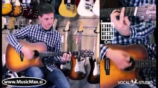 Crafter Elektro akustična kitara | Učenje igranja skladbe Poljubljena