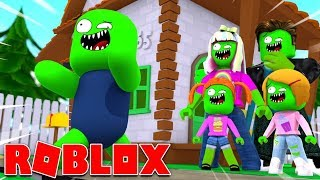 Famiglia Roblox zombi Il nostro bambino scappa in Adottarmi!