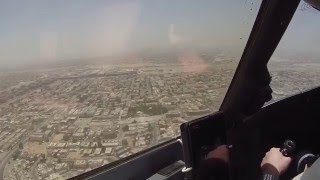 Landing in the hot Dubai Intl. Airport (OMDB), UAE/ Посадка в Дубае.