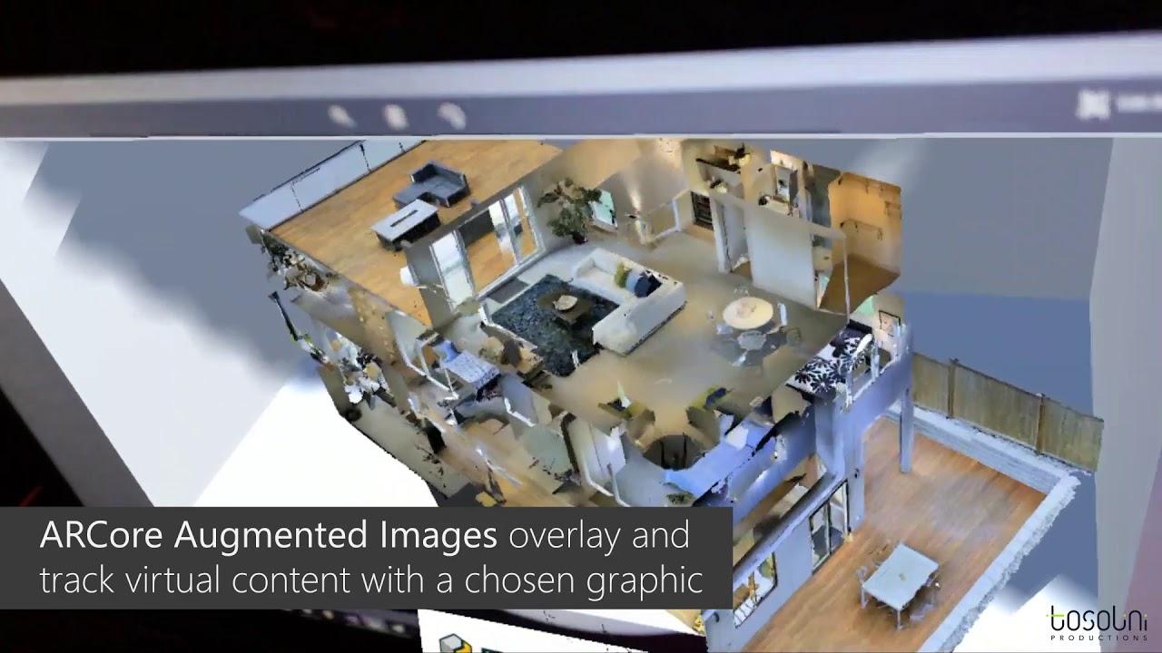 ARCore + Matterport augmented reality illusion