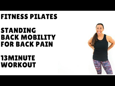 Fitness Pilates Standing Back Mobility Workout For Back Pain 13 minute Workout