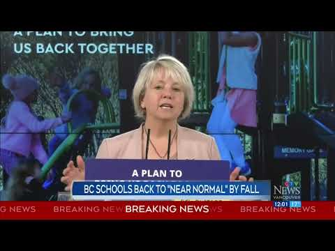 Dr. Henry expects B.C. schools back to 'near normal' by fall | COVID-19 in Canada