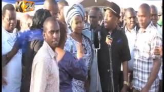 Nairobi Senator causes storm at burial of Wavinya Ndeti's husband