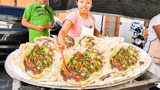 UNKNOWN Mexican Street Foods You MUST Try! MEGA Mexican Pizza, BEST BBQ, and 7 Mole's in OAXACA!