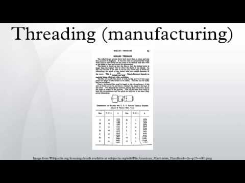 Threading (manufacturing)