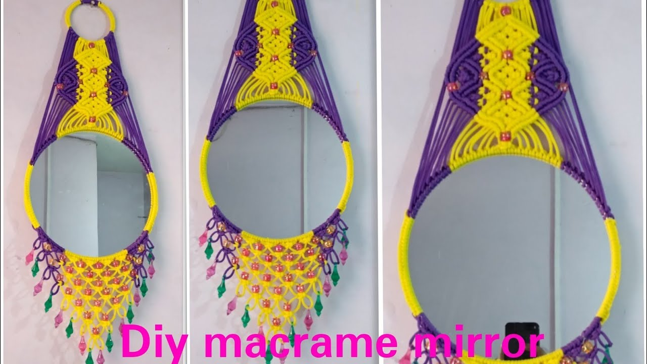 How To Make Macrame Mirror Wall Hanging Simple Design