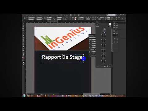 Example Design Rapport De Stage Indesign Youtube