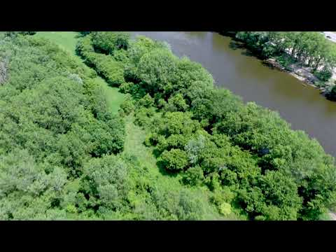 Dan Hibma's property along proposed Grand River dredging proposal