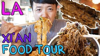 SPICY Noodles & Chinese BURGERS in Los Angeles: Xi'an Street Food Tour thumbnail