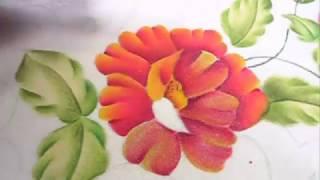 Cómo Pintar una Flor con Varios Tonos ( Pintura Básica)