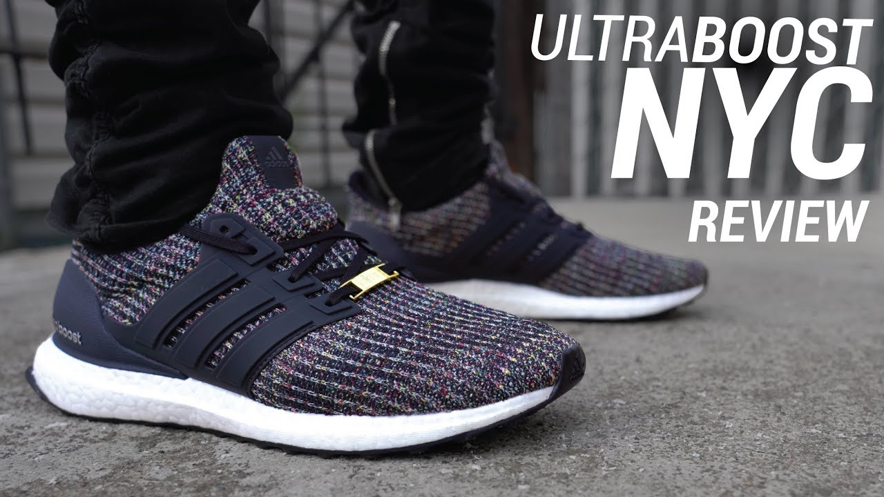 f66884705 ADIDAS ULTRA BOOST 4.0 MULTICOLOR NYC REVIEW   ON FEET - YouTube
