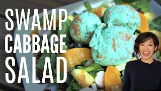 SWAMP CABBAGE SALAD - peanut butter ice cream, hearts of palm & lettuce Retro Recipe