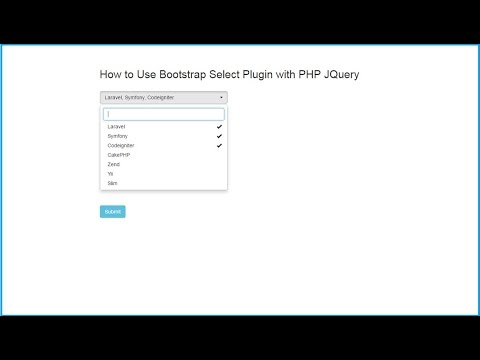 Multiple Select option by using Bootstrap Select Plugin in PHP Ajax