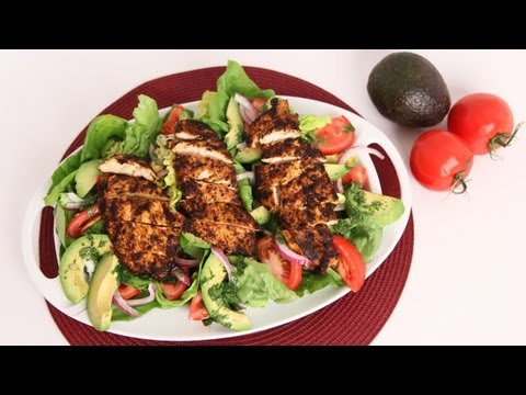 Spicy Grilled Chicken Salad with Avocado Laura Vitale Laura in the Kitchen Episode 595