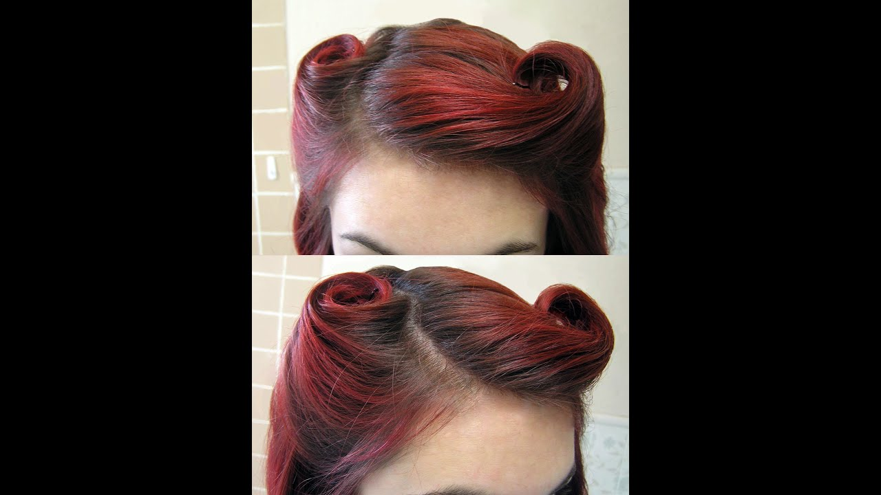 up style hair diy hair vintage 1940 s victory rolls 5703