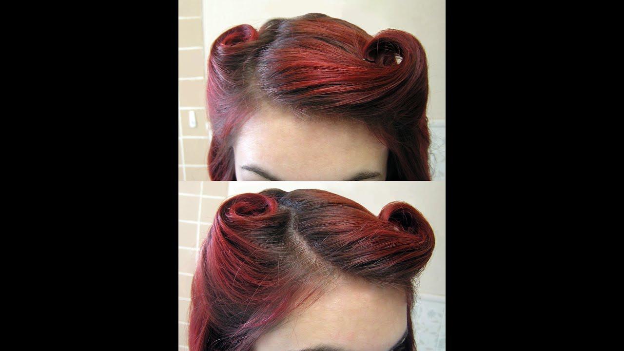 diy hair vintage 1940's victory