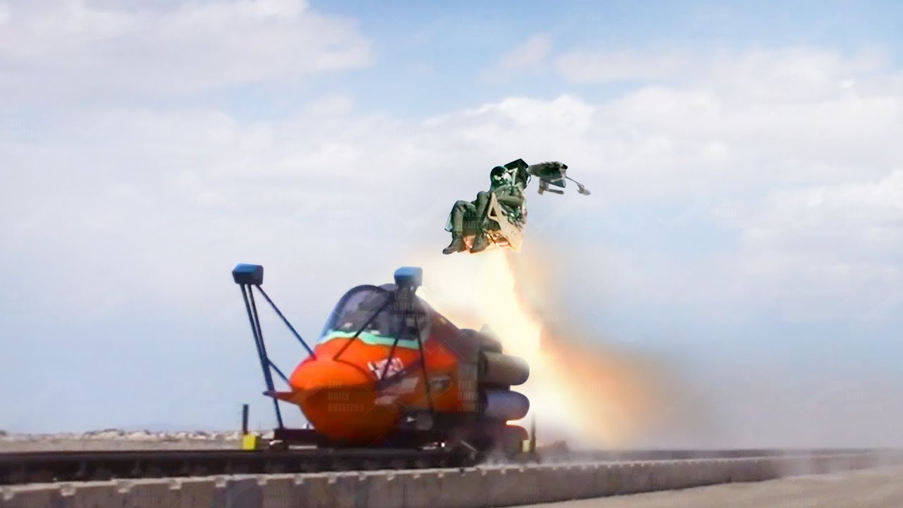 Download US Testing F-35 Ejection Seat at Insane Speed Using Rockets